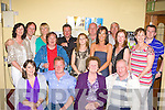 Jerry Daly Tullig, Castleisland seated centre celebrates his 40th birthday with his family and friends in the Crown Hotel Castleisland on Saturday night