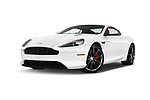 Stock pictures of low aggressive front three quarter view of 2016 Astonmartin DB9 Base 2 Door Coupe