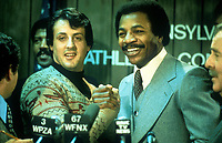 Rocky (1976) <br /> Sylvester Stallone &amp; Carl Weathers<br /> *Filmstill - Editorial Use Only*<br /> CAP/KFS<br /> Image supplied by Capital Pictures