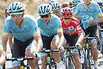 The peloton led by Astana Pro Team with Red Jersey Miguel Angel Lopez Moreno (COL) during Stage 6 of La Vuelta 2019 running 198.9km from Mora de Rubielos to Ares del Maestrat, Spain. 29th August 2019.<br /> Picture: Luis Angel Gomez/Photogomezsport | Cyclefile<br /> <br /> All photos usage must carry mandatory copyright credit (© Cyclefile | Luis Angel Gomez/Photogomezsport)