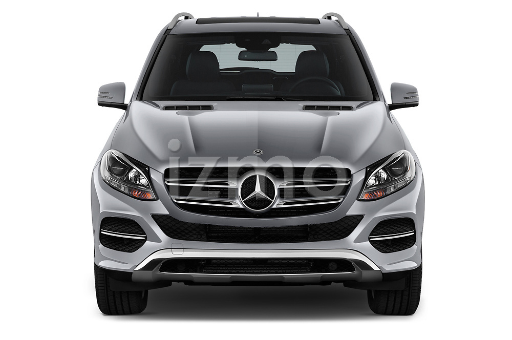 Car photography straight front view of a 2018 Mercedes Benz GLE Base 5 Door SUV