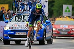 Yoann Offredo (FRA) Wanty-Groupe Gobert in action during Stage 1, a 14km individual time trial around Dusseldorf, of the 104th edition of the Tour de France 2017, Dusseldorf, Germany. 1st July 2017.<br /> Picture: Eoin Clarke | Cyclefile<br /> <br /> <br /> All photos usage must carry mandatory copyright credit (&copy; Cyclefile | Eoin Clarke)