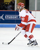 Jenelle Kohanchuk (BU - 19) - The Boston University Terriers defeated the Providence College Friars 5-3 on Saturday, November 14, 2009, at Agganis Arena in Boston, Massachusetts.