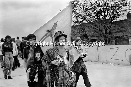 Scottish fans at England Scotland Football International Wembly London May 1975