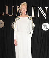 Tilda Swinton at the Luminous BFI gala dinner &amp; auction, The Guildhall, Gresham Street, London, England, UK, on Tuesday 03 October 2017.<br /> CAP/CAN<br /> &copy;CAN/Capital Pictures
