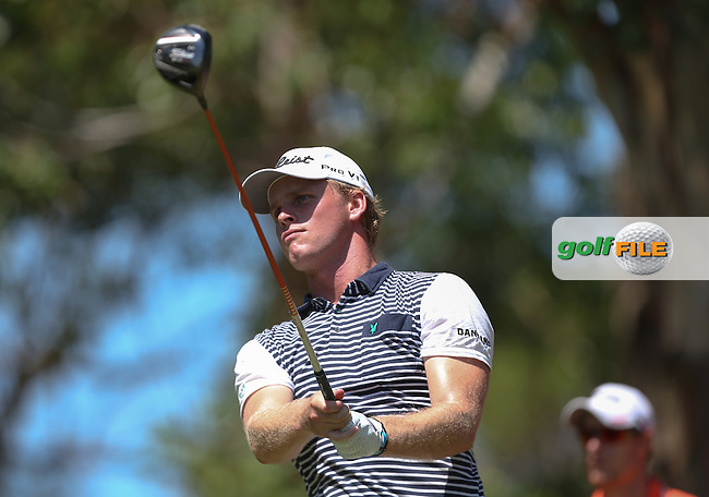 Morten Orum Madsen (DEN) charged on and added a further three shots to his total (-10) during Round Three of The Africa Open 2014 at the East London Golf Club, Eastern Cape, South Africa. Picture:  David Lloyd / www.golffile.ie