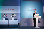 TOKYO - SEPTEMBER 8, 2009: Honda Motors President Takanobu Ito  presents the company's new technologies of automatic transmissions for their motorcycle during a press-conference at the company's Tokyo headquarter. (Photo Laurent Benchana/Nippon News)..