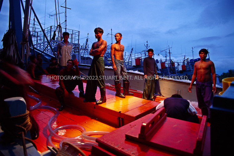5/9/1996--Ranong,  Thailand..Illegal Burmese immigrants in Thailand to work in the fishing industry ...All photographs ©2003 Stuart Isett.All rights reserved.This image may not be reproduced without ex