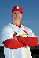 Mar 01, 2010; Jupiter, FL, USA; St. Louis Cardinals coach Mark McGwire (25) during  photoday at Roger Dean Stadium. Mandatory Credit: Tomasso De Rosa/ Four Seam Images