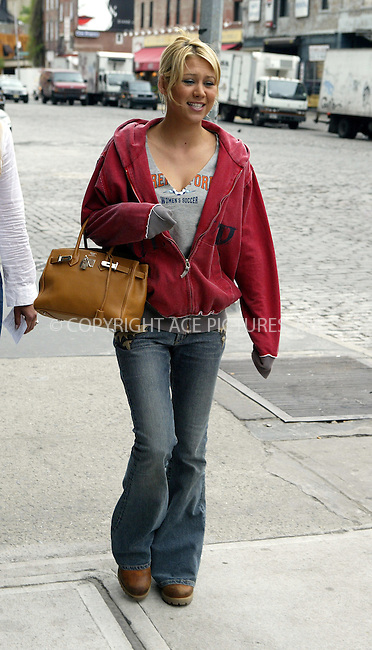 Ex tennis star Anna Kournikova spotted arriving at her Downtown hotel where she changed before heading for lunch at Cipriani with friends. New York, May 5, 2004. ..Please byline: ACE Pictures.   .. *** ***  ..All Celebrity Entertainment, Inc:  ..contact: Alecsey Boldeskul (646) 267-6913 ..Philip Vaughan (646) 769-0430..e-mail: info@nyphotopress.com