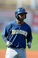 Trenton Thunder shortstop Jose Pirela #28 during practice before a game against the Akron Aeros on April 22, 2013 at Canal Park in Akron, Ohio.  Trenton defeated Akron 13-8.  (Mike Janes/Four Seam Images)