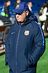 FC Barcelona coach Xavier Llorens during match of La Liga Femenina between Atletico de Madrid and FC Barcelona at Vicente Calderon Stadium in Madrid, Spain. December 11, 2016. (ALTERPHOTOS/BorjaB.Hojas)