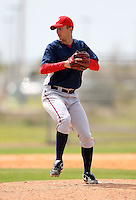 March 22, 2010:  Pitcher Evan Bronson of the Washington Nationals organization during Spring Training at the Carl Barger Training Complex in Melbourne, FL.  Photo By Mike Janes/Four Seam Images