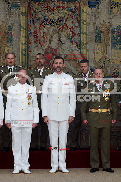 image Prince Felipe (Altephotos/Marta Gonzalez) .24.09.2012. Prince Felipe of Spain attends in audience a group of colonels and captains in the Royal Palace of El Pardo, Madrid, Spain. In the image Prince Felipe (Alterphotos/Marta Gonzalez) /NortePhoto<br /> <br /> **CREDITO*OBLIGATORIO** *No*Venta*A*Terceros*<br /> *No*Sale*So*third*...