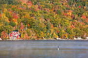 Wellington State Park - Newfound Lake in Bristol, New Hampshire USA during the autumn months