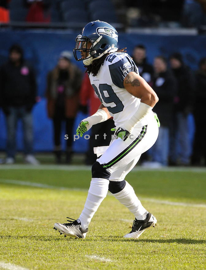 EARL THOMAS, of the Seattle Seahawks, in action during the Seahawks game against the Chicago Bears on December 18, 2011 at Soldier Field in Chicago, IL. Seattle beat Chicago 38-14.