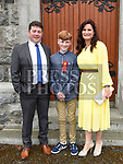 Garbhán O'Reilly who was confirmed at The Church of the Immaculate Conception Termonfeckin pictured with  parents Brian and Audrey. Photo:Colin Bell/pressphotos.ie