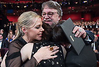 Guillermo del Toro and guests celebrate winning the Oscar&reg; for Best motion picture of the year  for work on &ldquo;The Shape of Water&rdquo; during the live ABC Telecast of The 90th Oscars&reg; at the Dolby&reg; Theatre in Hollywood, CA on Sunday, March 4, 2018.<br /> *Editorial Use Only*<br /> CAP/PLF/AMPAS<br /> Supplied by Capital Pictures
