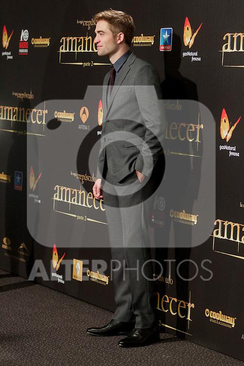 Robert Pattison during the premiere of The Twilight Saga: Breaking Dawn. November 15, 2012. (ALTERPHOTOS/Alvaro Hernández)