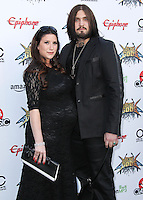 LOS ANGELES, CA, USA - APRIL 23: Nikki Williams, Weston Cage at the 2014 Revolver Golden Gods Award Show held at Club Nokia on April 23, 2014 in Los Angeles, California, United States. (Photo by Xavier Collin/Celebrity Monitor)