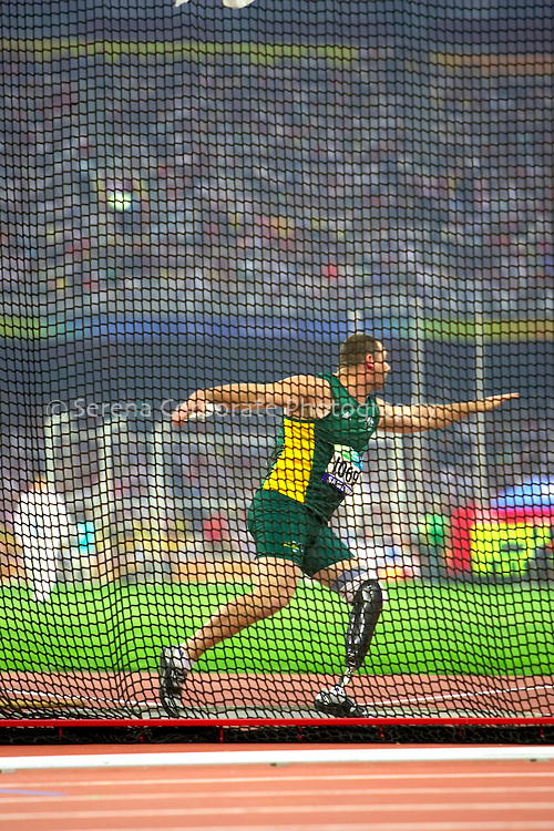 Australia's Paul Raison comes fifth in the men's discus final with a throw of 49.77 meters.
