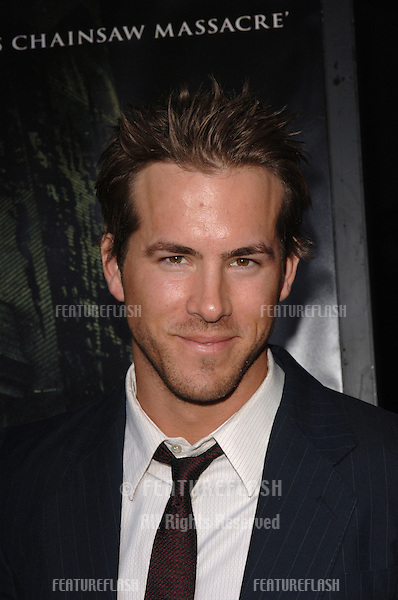 Actor RYAN REYNOLDS at the world premiere, in Hollywood, of his new movie The Amityville Horror..April 7, 2005 Los Angeles, CA..© 2005 Paul Smith / Featureflash