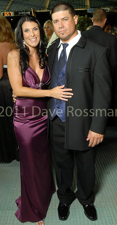 Michelle and Humberto Quintero at the Astros Wives Gala at Minute Maid Park Thursday Aug. 06, 2009.(Dave Rossman/For the Chronicle)