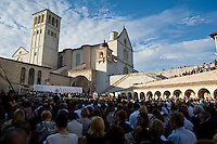 Assisi,Italy, September 20, 2016. War refugees and leaders and representatives of several religions, including Christians, Jews, Muslims, Hindus and others, joined Pope Francis in a day of prayer for peace in Assisi, the hometown of St. Francis, who preached tolerance and gentleness.