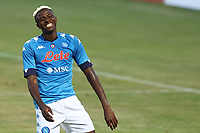 Victor Osimhen of SSC Napoli smiles<br /> during the friendly football match between SSC Napoli and L Aquila 1927 at stadio Patini in Castel di Sangro, Italy, August 28, 2020. <br /> Photo Cesare Purini / Insidefoto