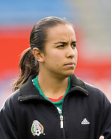 Mexico's Luz Saucedo during the team presentation. USA women's national team defeated Mexico 5-0 at Gillette Stadium in Foxborough MA on April 14, 2007