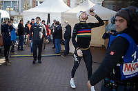 stage winner in his very last TT as World Champion: Sir Bradley Wiggins (GBR/Sky) to the stage<br /> <br /> 3 Days of De Panne 2015<br /> stage 3b: De Panne-De Panne TT