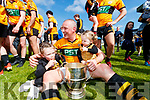 Kieran Donghy  Austin Stacks with his Children Lola Rose and Indie the Kerry Club Championship Final on Sunday.