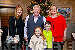 Michelle, Cathal, Claire, Charlie and Mary Anne Keane, Knocknagoshel, pictured at the Thanksgiving Dinner at The Rose Hotel, Tralee, on Thursday, November 23rd last.