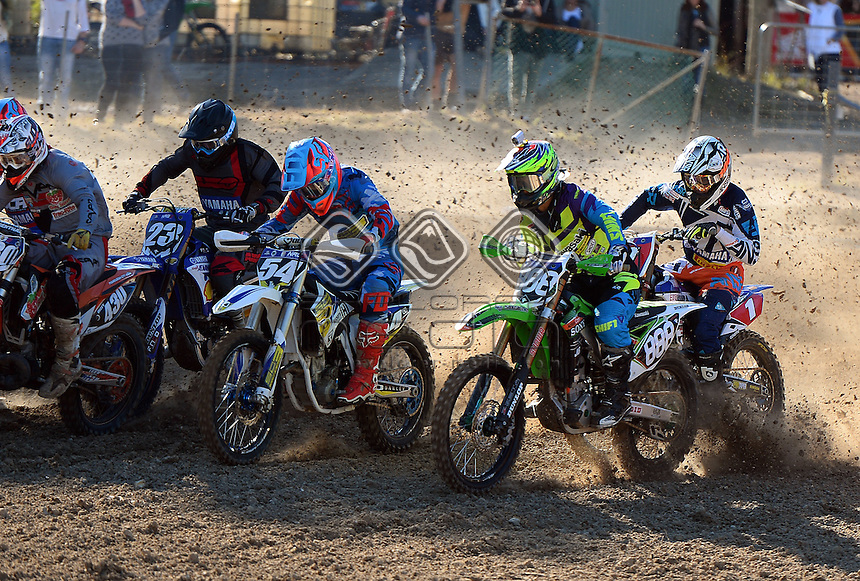 Takeshi Katsuya / Kawasaki<br /> MX Nationals / Round 6 / MX2<br /> Australian Motocross Championships<br /> Raymond Terrace NSW<br /> Sunday 5 July 2015<br /> &copy; Sport the library / Jeff Crow