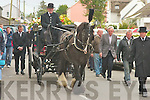 The funeral of Gerald Gud McElligott, pass through Lixnaw on Sunday morning...   Copyright Kerry's Eye 2008