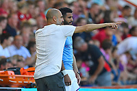 Manchester City Manager Pep Guardiola sends on Riyad Mahrez of Manchester Cityduring AFC Bournemouth vs Manchester City, Premier League Football at the Vitality Stadium on 25th August 2019
