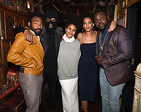 "LOS ANGELES - FEBRUARY 19:  Donald Glover, Lakeith Stanfield, Zazie Beetz, Stefani Robinson and Brian Tyree Henry at the party for FX's ""Atlanta Robbin' Season"" at the Clifton Cafeteria on February 19, 2018 in Los Angeles, California.(Photo by Frank Micelotta/FX/PictureGroup)"