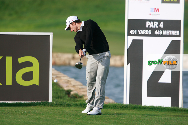 Alejandro Canizares (ESP) tees off on the 14th tee during Friday's Round 2 of the Bankia Madrid Masters at El Encin Golf Hotel, Madrid, Spain, 7th October 2011 (Photo Eoin Clarke/www.golffile.ie)