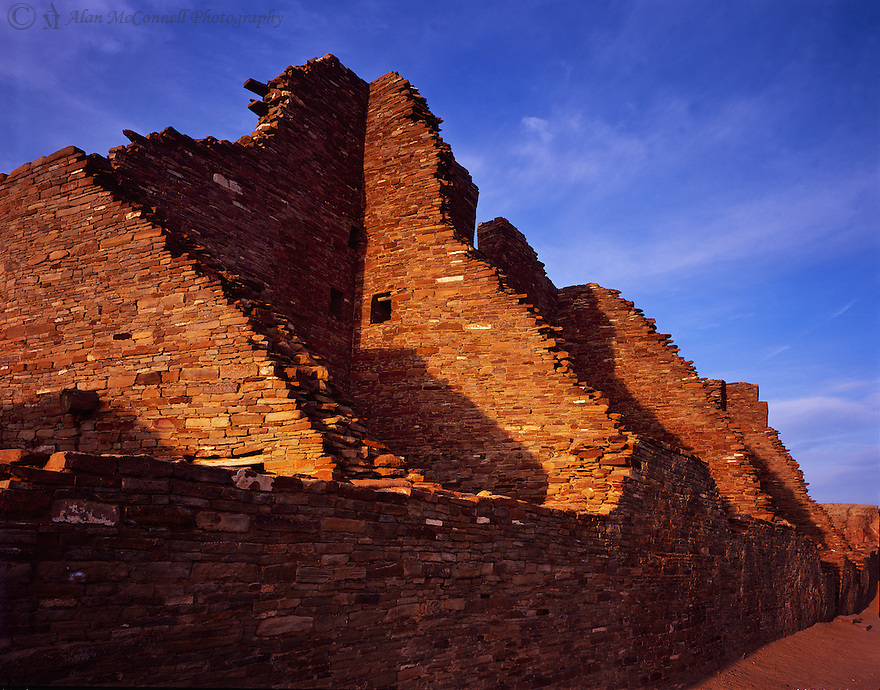 &quot;Sun Setting on Pueblo Bonito&quot;<br />