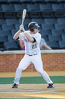 Jack Carey (20) of the Wake Forest Demon Deacons at bat against the High Point Panthers at Wake Forest Baseball Park on April 2, 2014 in Winston-Salem, North Carolina.  The Demon Deacons defeated the Panthers 10-6.  (Brian Westerholt/Four Seam Images)