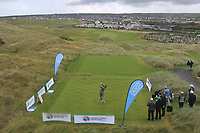 Alan Fahy (Bray) on the 1st tee during Matchplay Semi-Finals of the AIG Irish Amateur Close Championship 2019 in Ballybunion Golf Club, Ballybunion, Co. Kerry on Wednesday 7th August 2019.<br /> <br /> Picture:  Thos Caffrey / www.golffile.ie<br /> <br /> All photos usage must carry mandatory copyright credit (© Golffile | Thos Caffrey)