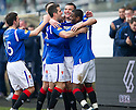 RANGERS' LEE MCCULLOCH IS CONGRATULATED AFTER HE SCORES RANGERS' SECOND