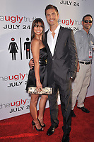 "Eric Winter & wife Roselyn Sanchez at the premiere of his new movie ""The Ugly Truth"" at the Cinerama Dome, Hollywood..July 16, 2009  Los Angeles, CA.Picture: Paul Smith / Featureflash"