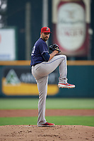Binghamton Rumble Ponies starting pitcher David Peterson (27) during an Eastern League game against the Richmond Flying Squirrels on May 29, 2019 at The Diamond in Richmond, Virginia.  Binghamton defeated Richmond 9-5 in ten innings.  (Mike Janes/Four Seam Images)