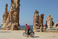 """- the rocks called """"needles"""" on waterfront of Tabarka town....- le rocce chiamate """"aghi"""" sul lungomare della città di Tabarka"""