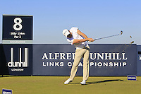Maximilian Keiffer (GER) on the 8th tee during Round 1 of the 2015 Alfred Dunhill Links Championship at Kingsbarns in Scotland on 1/10/15.<br /> Picture: Thos Caffrey | Golffile