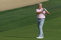 Colin Montgomerie (SCO) on the 8th during Round 2 of the Omega Dubai Desert Classic, Emirates Golf Club, Dubai,  United Arab Emirates. 25/01/2019<br /> Picture: Golffile | Thos Caffrey<br /> <br /> <br /> All photo usage must carry mandatory copyright credit (© Golffile | Thos Caffrey)
