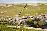 Carboniferous limestone scenery, top of Malham Cove Yorkshire Dales national park, England, UK
