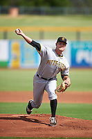 Surprise Saguaros pitcher Tanner Anderson (41), of the Pittsburgh Pirates organization, during a game against the Peoria Javelinas on October 12, 2016 at Peoria Stadium in Peoria, Arizona.  The game ended in a 7-7 tie after eleven innings.  (Mike Janes/Four Seam Images)