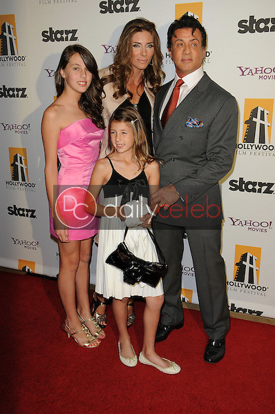 Sylvester Stallone and Family<br />